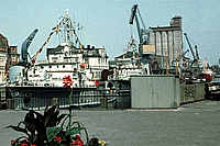 Der Oldenburger Hafen um 1973. Foto: Peter Lerche