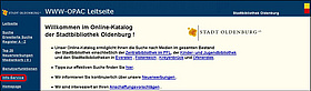 Screenshot Info-Service. Bild: Stadt Oldenburg