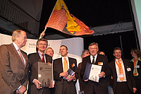 "Celebration after the title ""City of Science"" was awarded to Oldenburg. Picture: City of Oldenburg"
