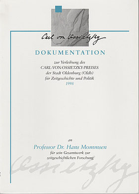 Cover der Dokumentation 1998. © Stadt Oldenburg