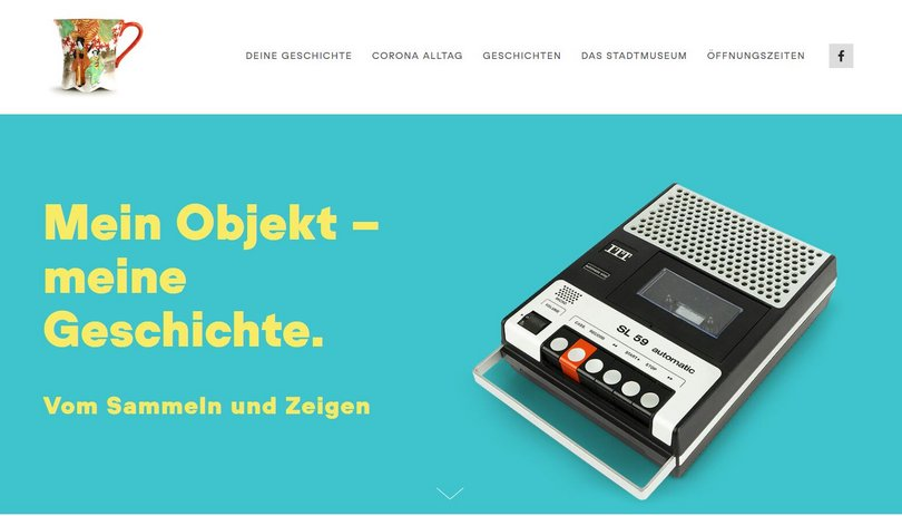 "Screenshot der Website ""was-sammelst-du.de"". Foto: Stadtmuseum"