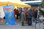 Das Interesse an dem Informationstand war enorm. Foto: Stadt Oldenburg