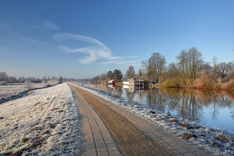 Wintermorgen an der Hunte in Oldenburg im Jahr 2018. Foto:Zietz