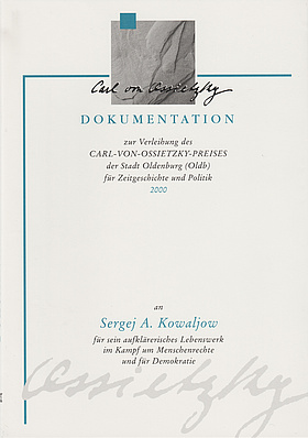 Cover der Dokumentation 2000. © Stadt Oldenburg