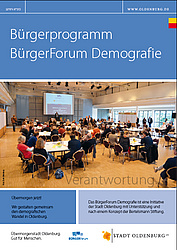 Deckblatt BürgerForum Demografie. Foto: Stadt Oldenburg
