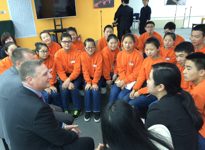 Besuch der BN Vocational School Peking. Foto: Stadt Oldenburg